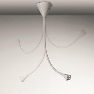Voluptas 4-Light Cluster Pendant by MindLED