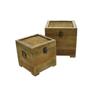 Union Rustic Carney Wood Accent 2 Piece Trunk Set