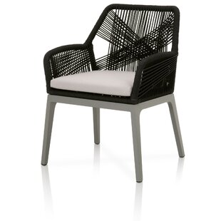 Wayland Loom Patio Dining Chair with Cushion (Set of 2)