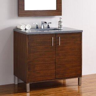 Cordie 36 Single American Walnut Wood Base Bathroom Vanity Set by Orren Ellis