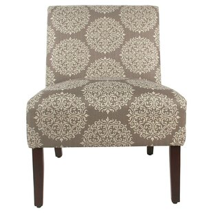 Miesville Printed Fabric Upholstered Wooden Slipper Chair by Bungalow Rose