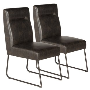 Evonne Industrial Upholstered Dining Chair (Set of 2)