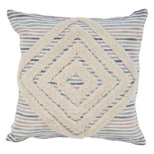 Marta Geometric Striped Cotton Throw Pillow