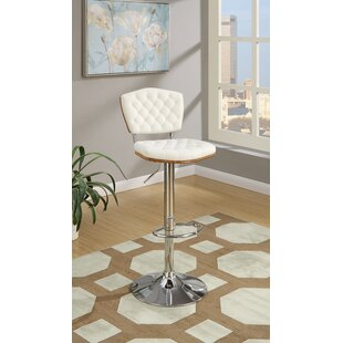 Hertel Swivel Upholstered Adjustable Height Bar Stool by Orren Ellis