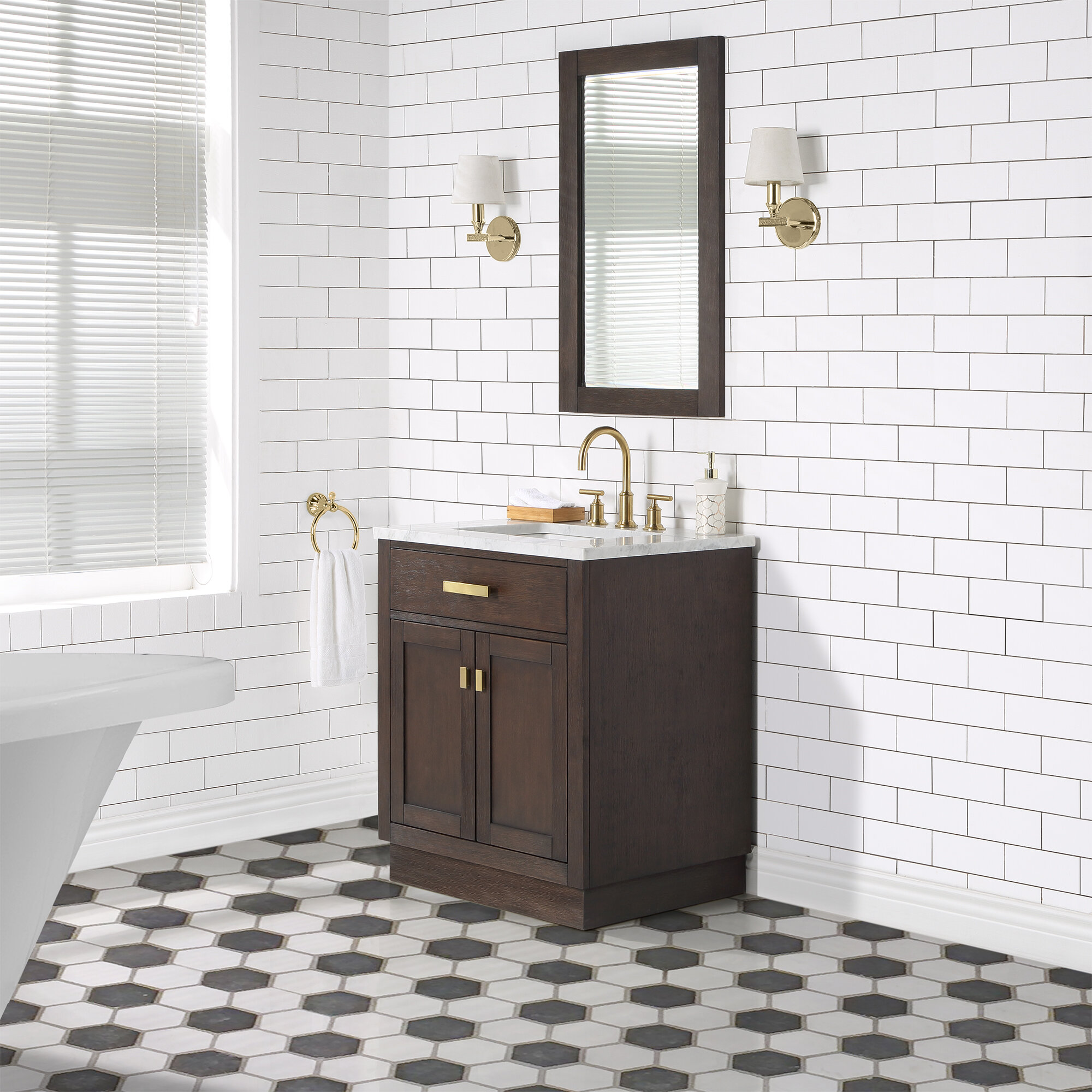 Wrought Studio Chestnut 30 Single Bathroom Vanity Wayfair