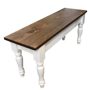 August Grove Gephart Farmhouse Wood Bench