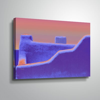 Canvas Santa Fe >> Santa Fe Adobe Ii Graphic Art Print On Canvas World