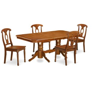 Pillsbury Traditional 5 Piece Wood Dining Set August Grove