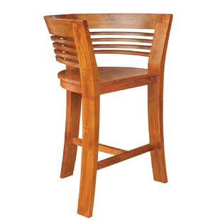 Chic Teak Half Moon Teak Bar Stool