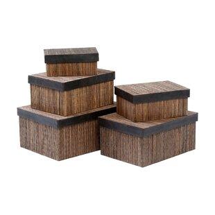 5 Piece Lidi Storage Box Set By Symple Stuff
