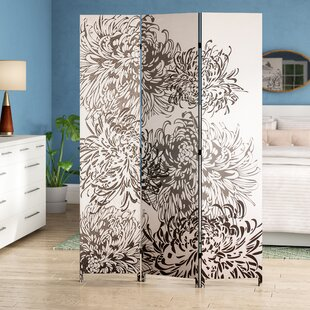 Zipcode Design Johnnie Chrysanthemum 3 Panel Room Divider