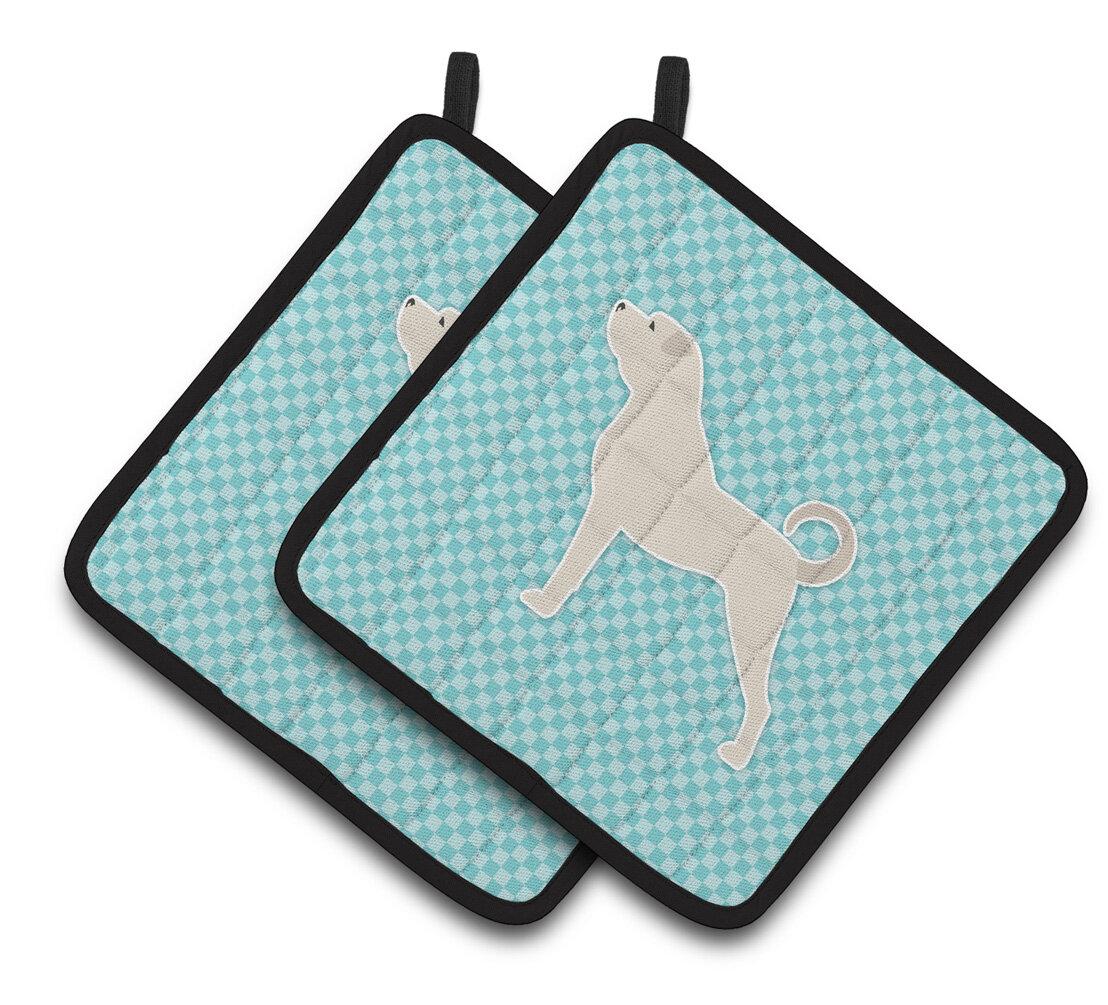 East Urban Home Dog Hanging Tab Checkerboard Potholder