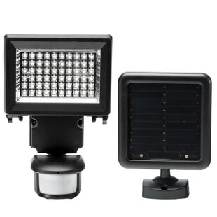 Duracell LED, Solar Power, Battery Operated Outdoor Security Flood Light with Motion Sensor by Jiawei Technology