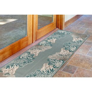 Ricki Reef Border Blue Indoor/Outdoor Area Rug