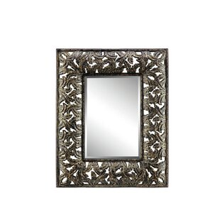 Darby Home Co Rectangle Black And Gold Wall Mirror