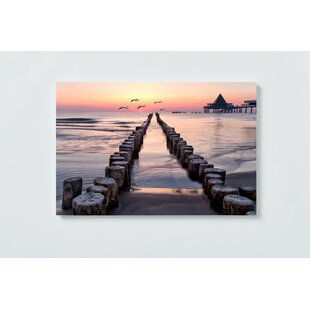 Sunset Motif Magnetic Wall Mounted Cork Board By Ebern Designs
