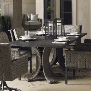 Blue Olive Rattan Dining Table