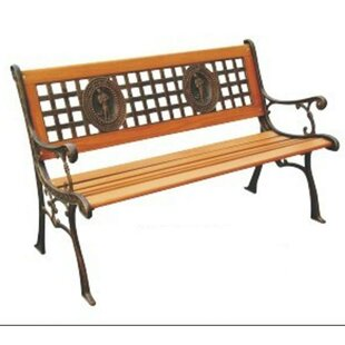 Fisherman Wood and Cast Iron Park Bench by DC America