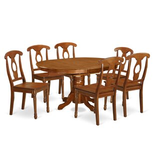 Spurling 7 Piece Solid Wood Dining Set August Grove