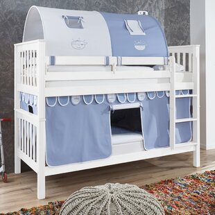 Review Wicky European Single Bunk Bed With Textile Set