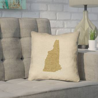 Ivy Bronx Giorgi State Love Watercolor In Cotton Twill Double Sided Print Pillow Cover Wayfair