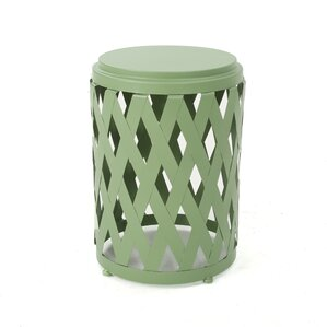 Ramiro Outdoor Iron End Table ..