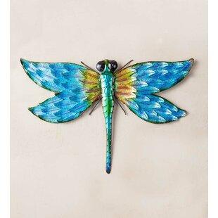 Iridescent Metal Dragonfly Wall Décor