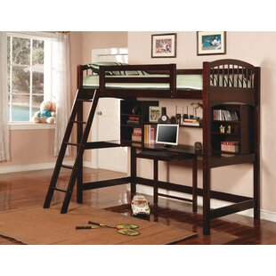 Dorena Twin Loft Bed with Bookcase and Shelves by Wildon Home®