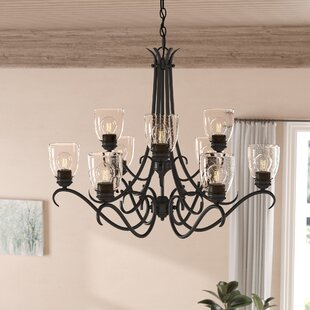 Sheila 9-Light Shaded Chandelier by Laurel Foundry Modern Farmhouse