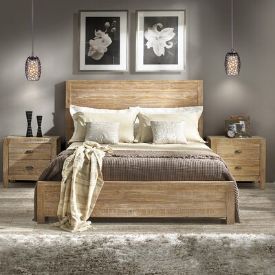 Montauk Standard Bed Color: Driftwood, Size: King