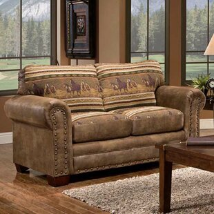 Shop Charlie Wild Horses Loveseat by Millwood Pines