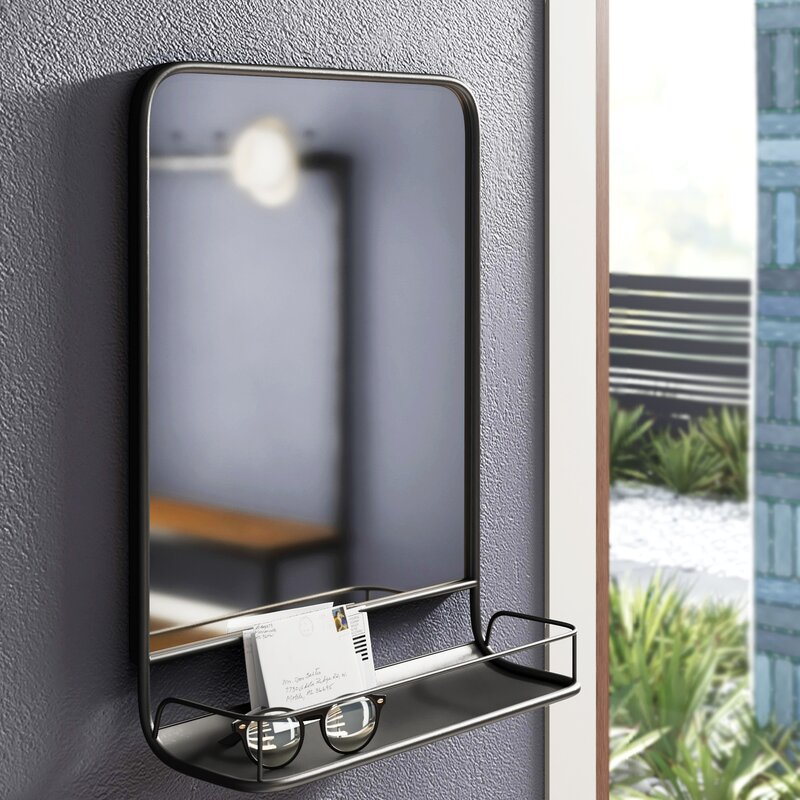 Lyle Modern Contemporary Wall Mirror With Shelves Reviews Allmodern