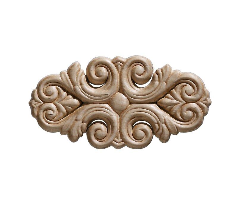 Ornamental Mouldings Birch Acanthus 2 75 H X 5 5 W X 0 22 D Onlay Scroll Reviews Wayfair
