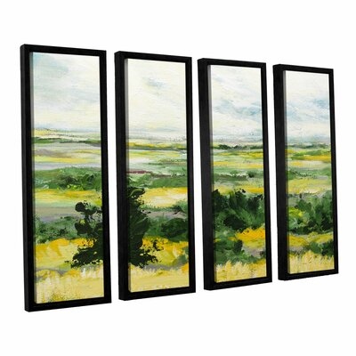 Petersfield 4 Piece Framed Painting Print On Canvas Set Darby Home Co Size 36 H X 48 W X 2 D