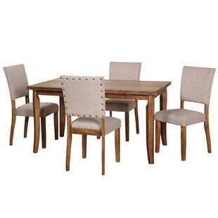 Lassiter 5 Piece Solid Wood Dining Set Gracie Oaks
