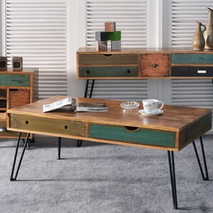 Jordyn 2 Drawer Coffee Table by Bungalow Rose