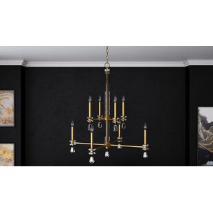 Mercer41 Tera 8-Light Candle Style Chandelier
