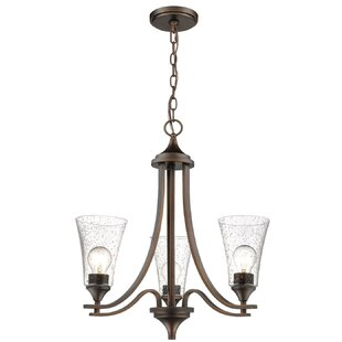 Charlton Home Elaina 3-Light Shaded Chandelier