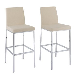 Onya Fabric Bar Stool (Set of 2) by Orren Ellis