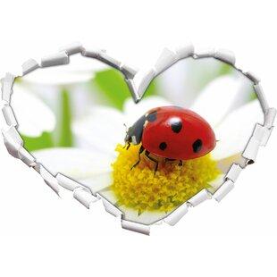 Ladybird On Daisy Wall Sticker By East Urban Home