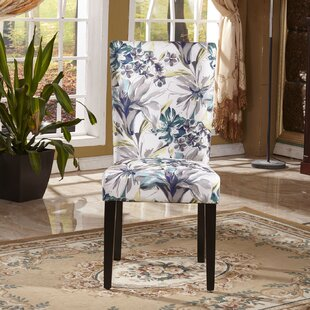 Elegant Floral Upholstered Dining Chair (..