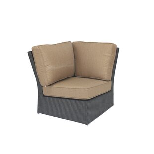 Wicker Corner Patio Chair with Cushions by Alcott Hill