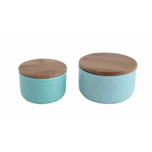 Bamboo Lid 3 Piece Kitchen Canister set
