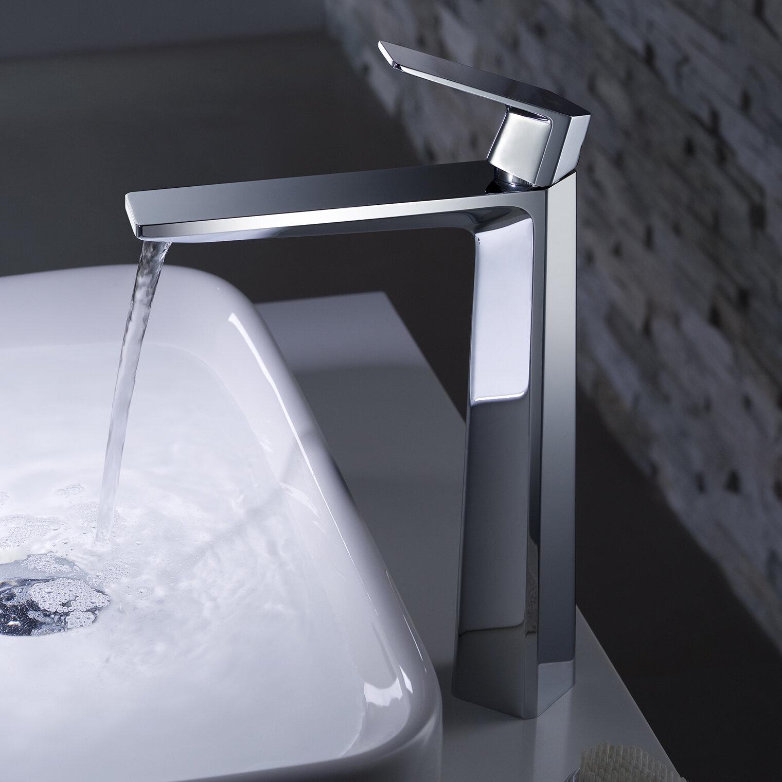 Kraus Exquisite Vessel Single Hole Bathroom Faucet & Reviews | Wayfair