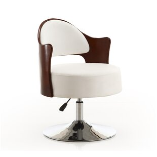 Orren Ellis Henslee Adjustable Leather Barrel Chair