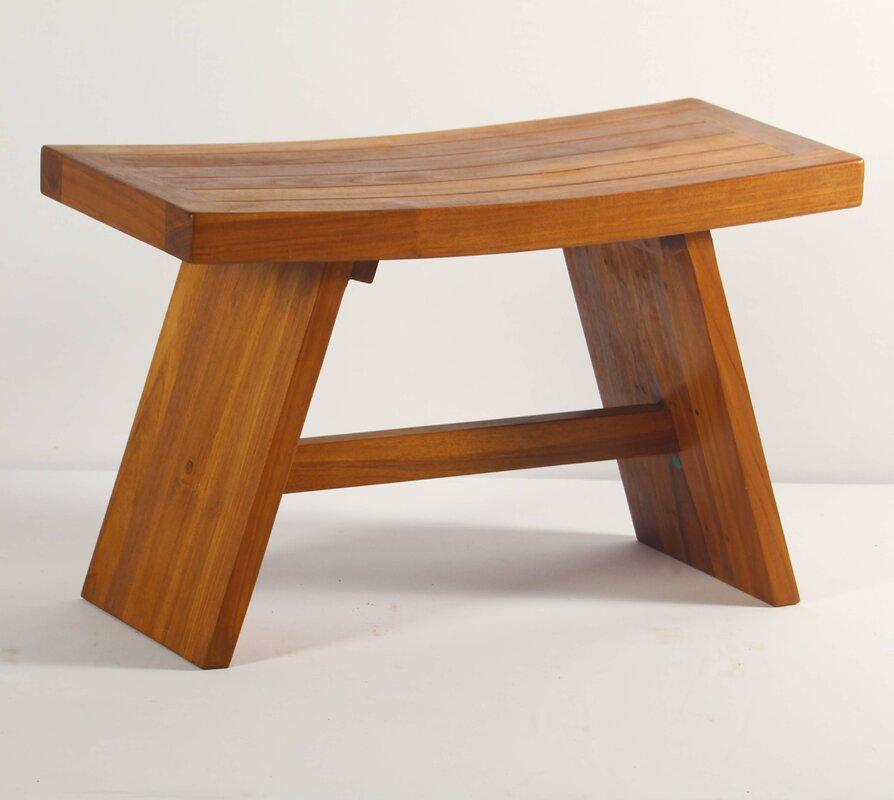 Contemporary Teak Shower Seat & Reviews | Birch Lane