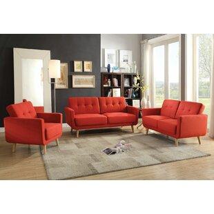 George Oliver Camron 3 Piece Living Room Set