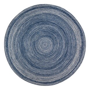 Hand-Braided Blue Area Rug by Highland Dunes