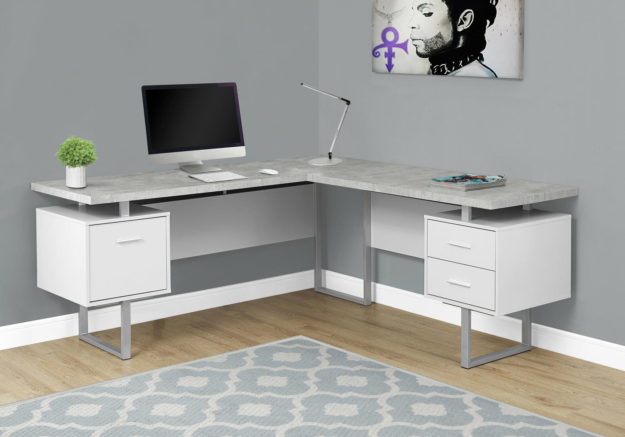 Sova 40 Drawer L-Shape Executive Desk