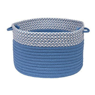 Brayden Studio Ariadne Dipped Basket Size: 10 H x 14 W x 14 D, Color: Blue Ice